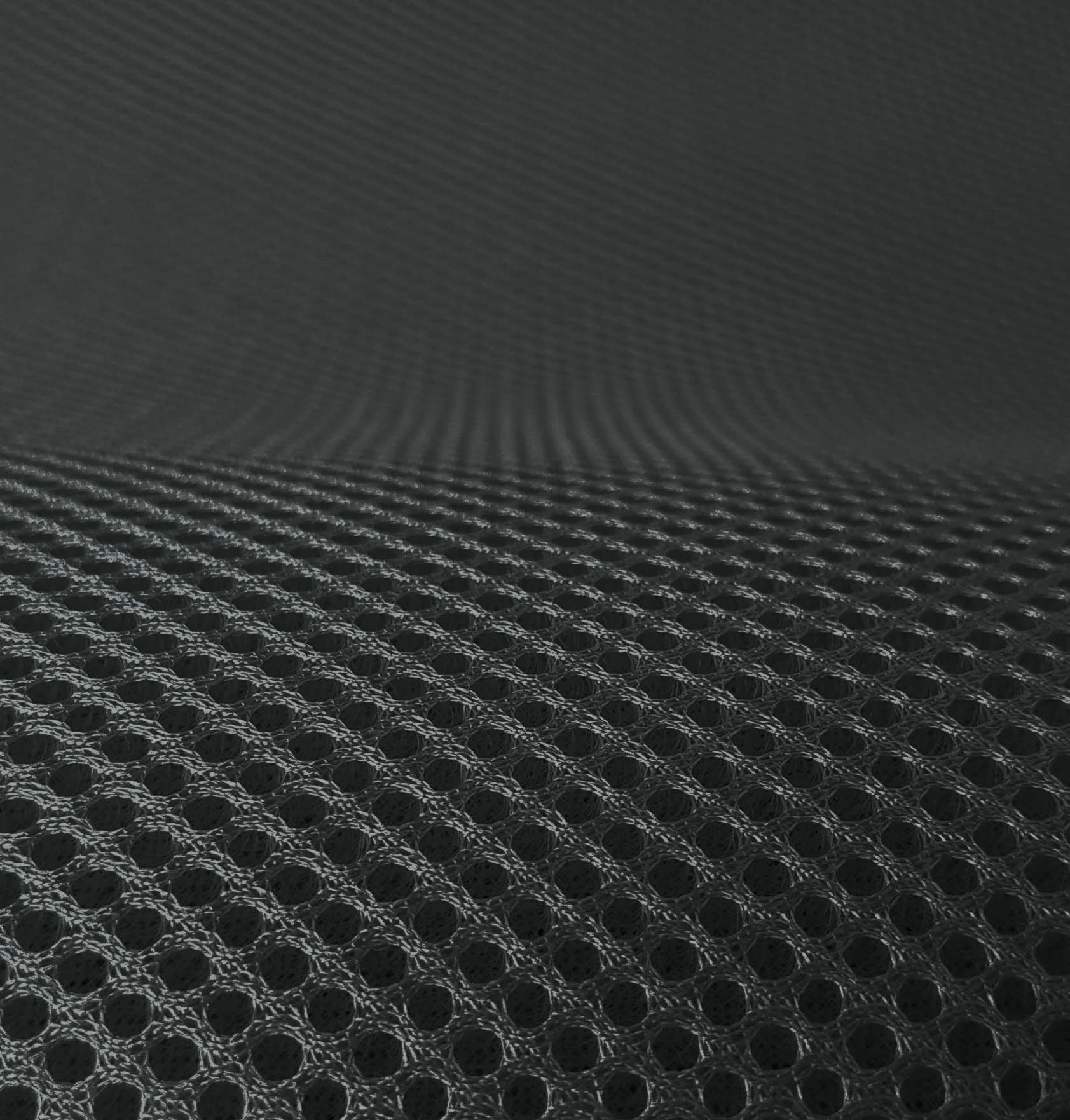 Lasagroom Air Mesh Fabric Darkgrey Anthracite 4mm