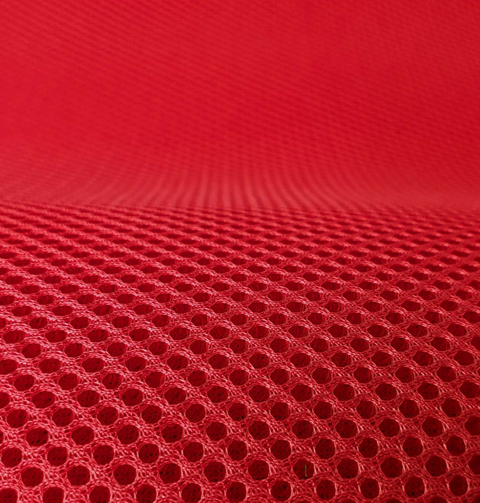 Lasagroom Air Mesh Fabric Red 4mm