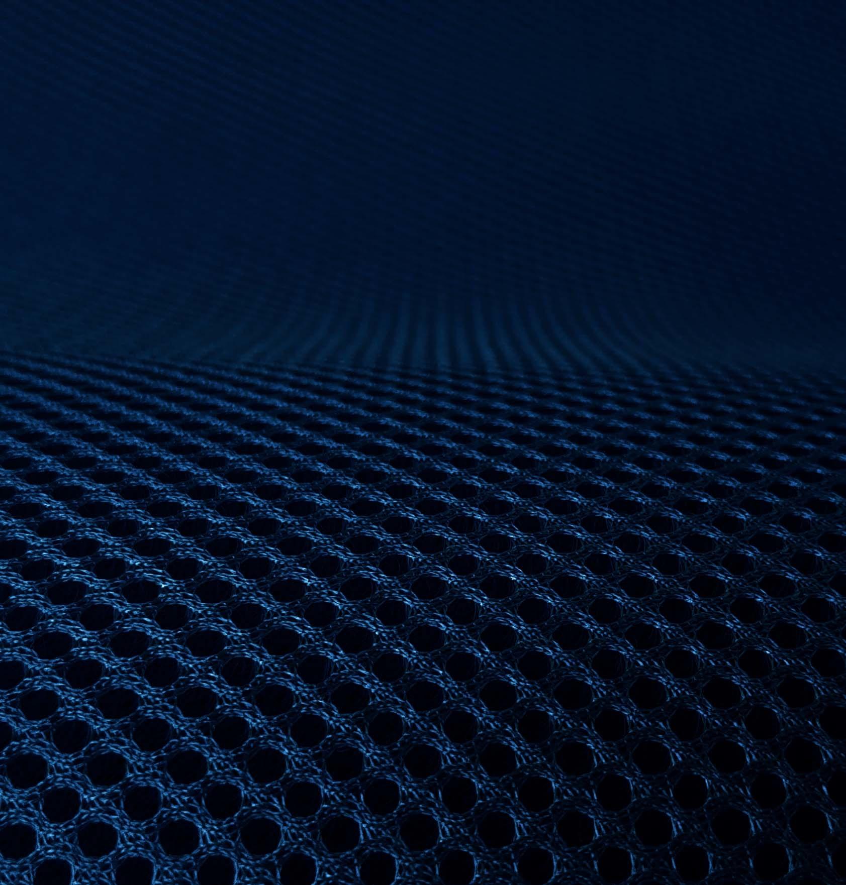 Lasagroom Air Mesh Tissu marine bleu foncé 4 mm