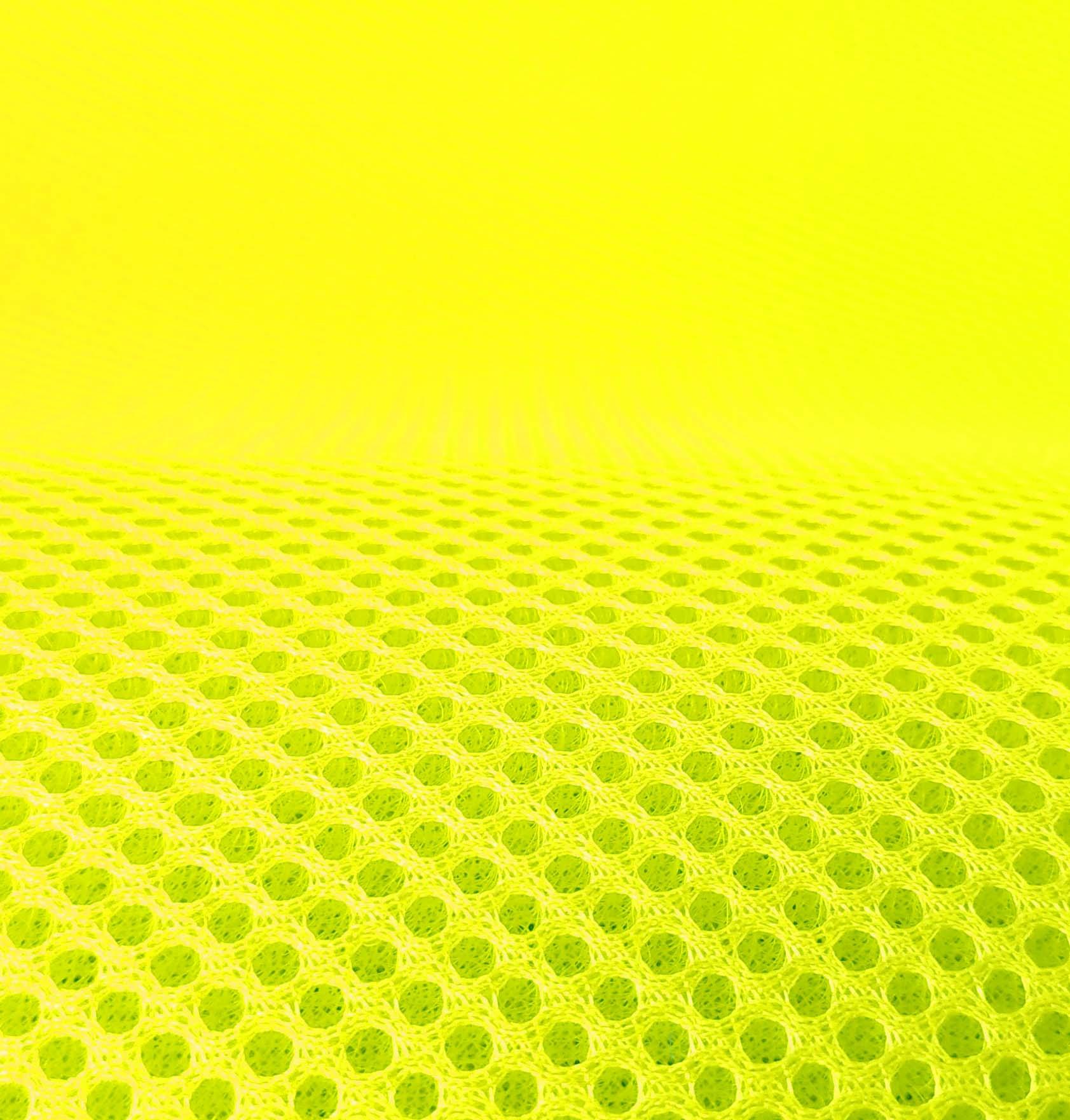 Lasagroom Air Mesh Fabric Neon Yellow 4mm