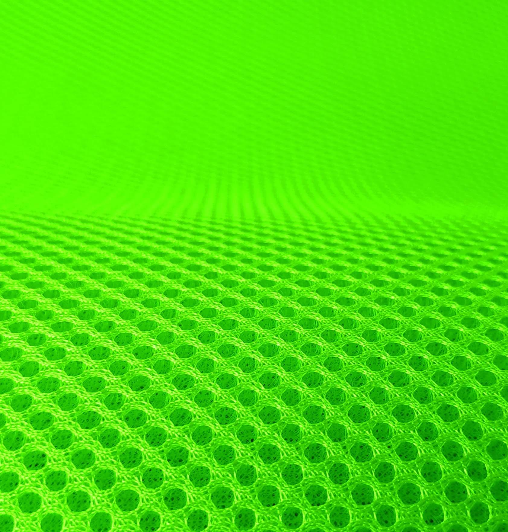 Lasagroom Air Mesh Tissu Vert Fluo 3,5mm