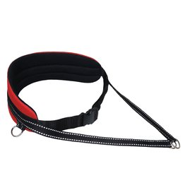 Northern Howl Handsfree Dog Walking Running Jogging Waist Belt - red