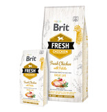 Brit Hundefutter Brit Fresh Chicken with Potato Adult Great Life
