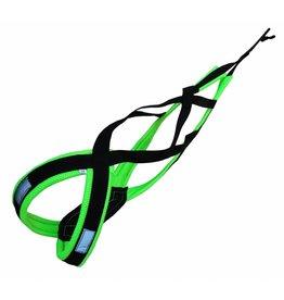 LasaLine X-Back harnais pour chien pour le vélo, ski-joering, scooter, traîneau  - noir / vert néon - Copy