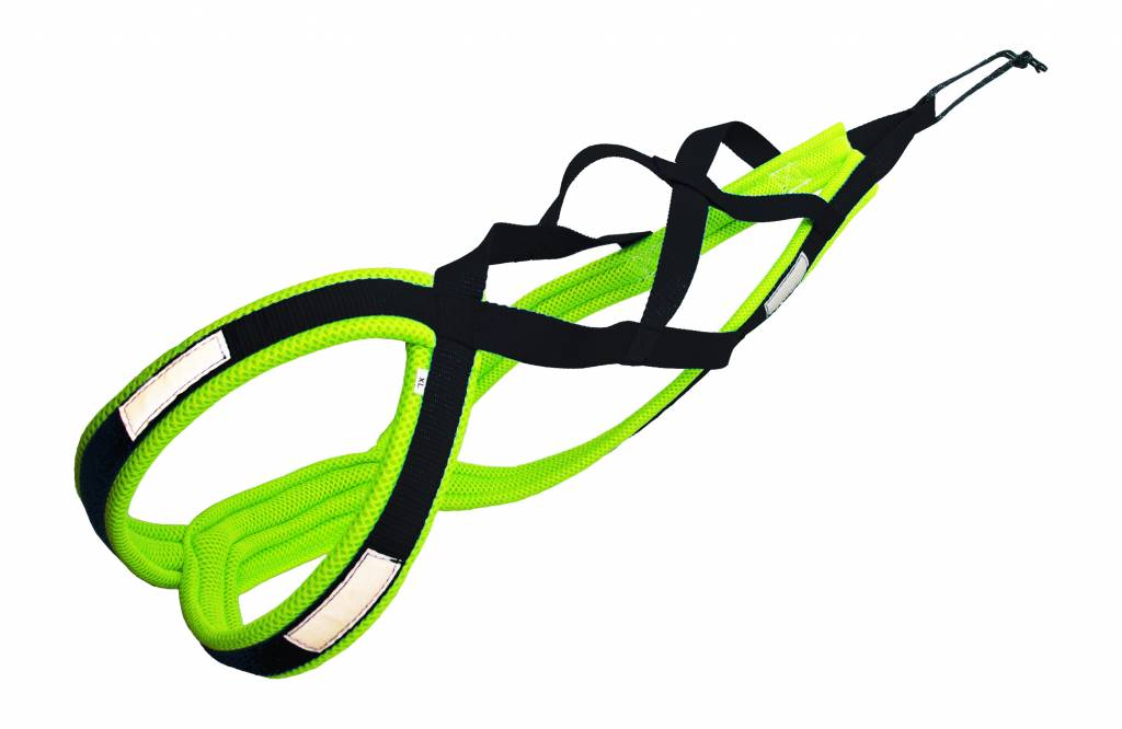 Northern Howl Weight Pulling Dog Harness, X-Back Style Black-Neonyellow