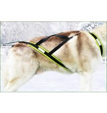 Northern Howl Northern Howl Weight Pulling Dog Harness, X-Back Style Black-Neonyellow