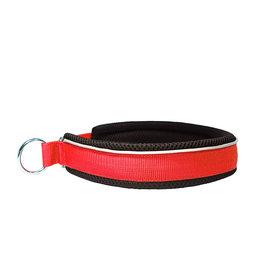 Northern Howl Halsband mit Zugstopp Rot/Schwarz