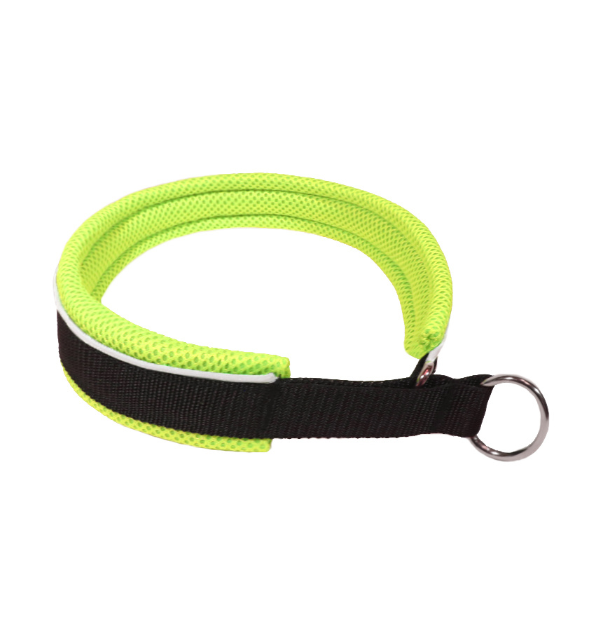 Northern Howl Martingale Training Dog Collar-black/neon yellow