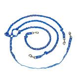 Northern Howl Laisse avec amortisseur intégré pour 3 chiens - bleu