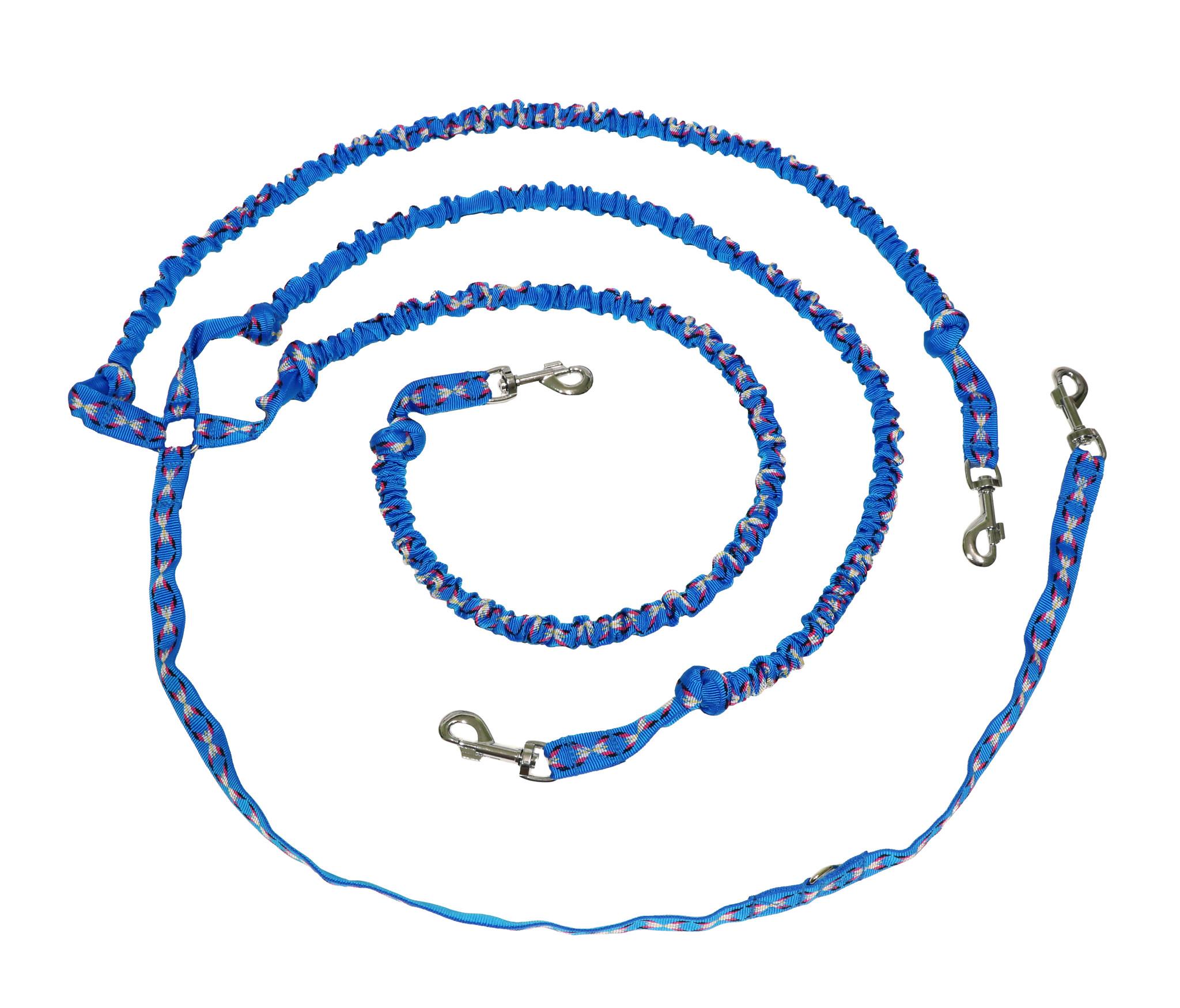 Northern Howl Zugleine für 3 Hunde mit integr. Ruckdämpfer - blau