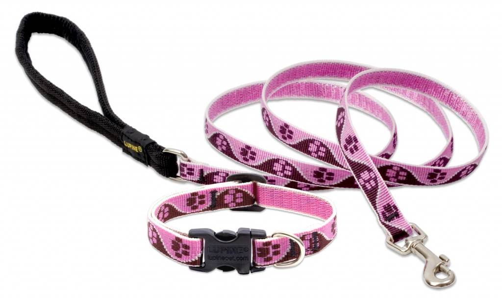 Lupinepet Hundeleine Tickled Pink / Breite 12mm