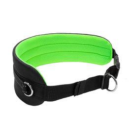 LasaLine Handsfree Dog Walking Running Jogging Waist Belt - neon green