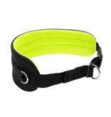 LasaLine Mains-libres chien marchant Courir jogging Ceinture - néon Jaune Pedding / noir avec réflecteurs