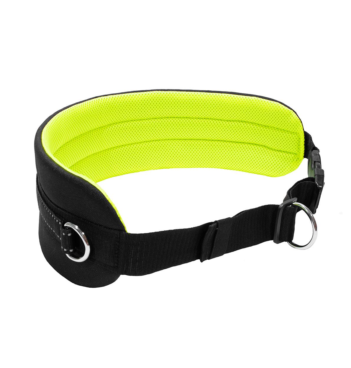 LasaLine LasaLine Canicross Gürtel für Jogging Dogtrekking Laufen Ski-Jöring  mit Reflektoren in Schwarz Neongelb