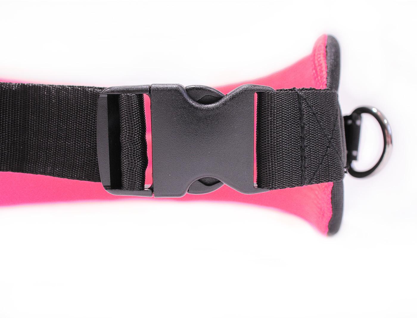 LasaLine LasaLine Canicross Jogging und Laufgürtel mit Reflektoren in Schwarz Neonpink