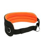 LasaLine Handsfree Dog Walking Running Jogging Waist Belt -  neon orange Pedding/ black with reflectors