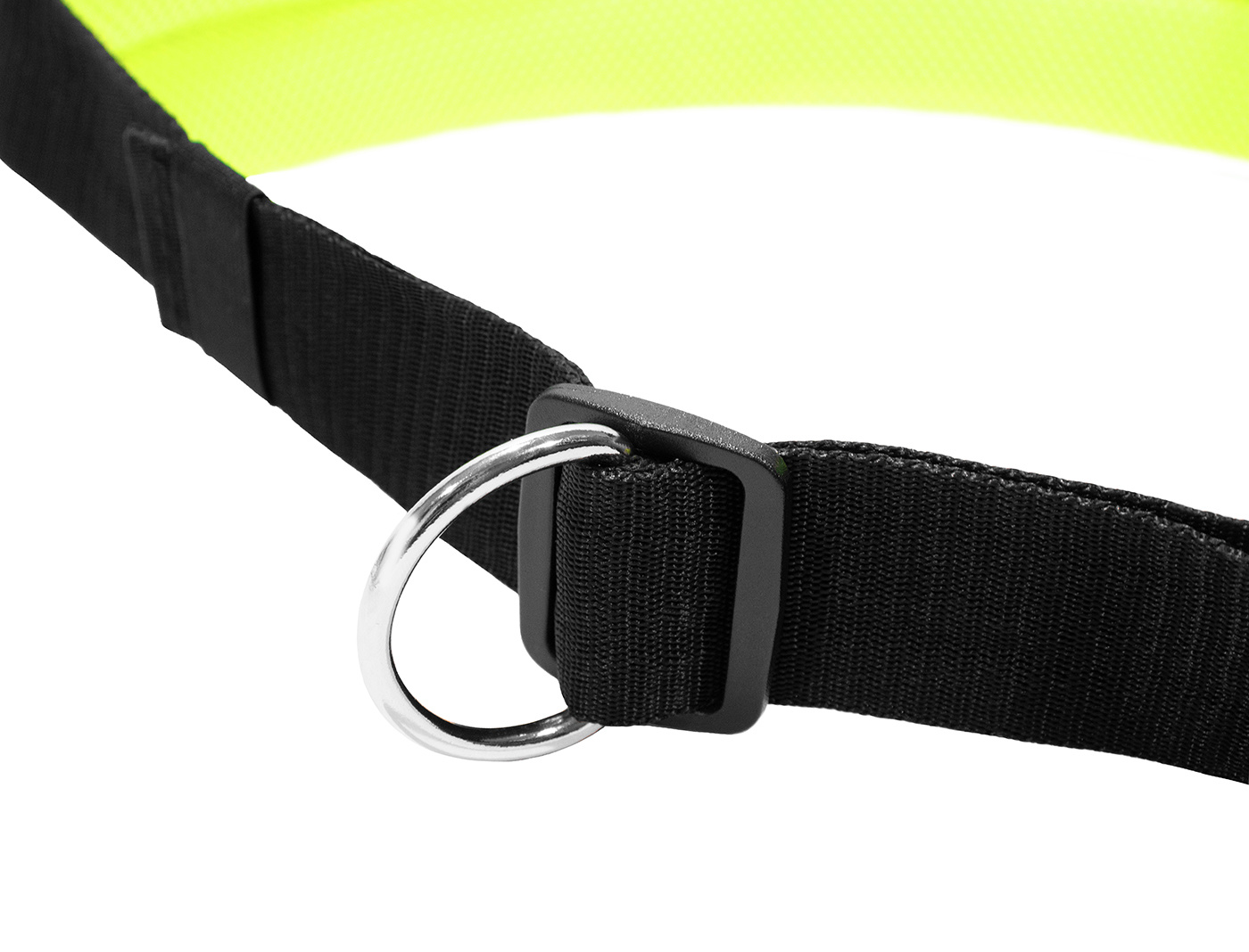 LasaLine Handsfree Dog Walking Running Jogging Waist Belt -  neon yellow Pedding/ black with reflectors