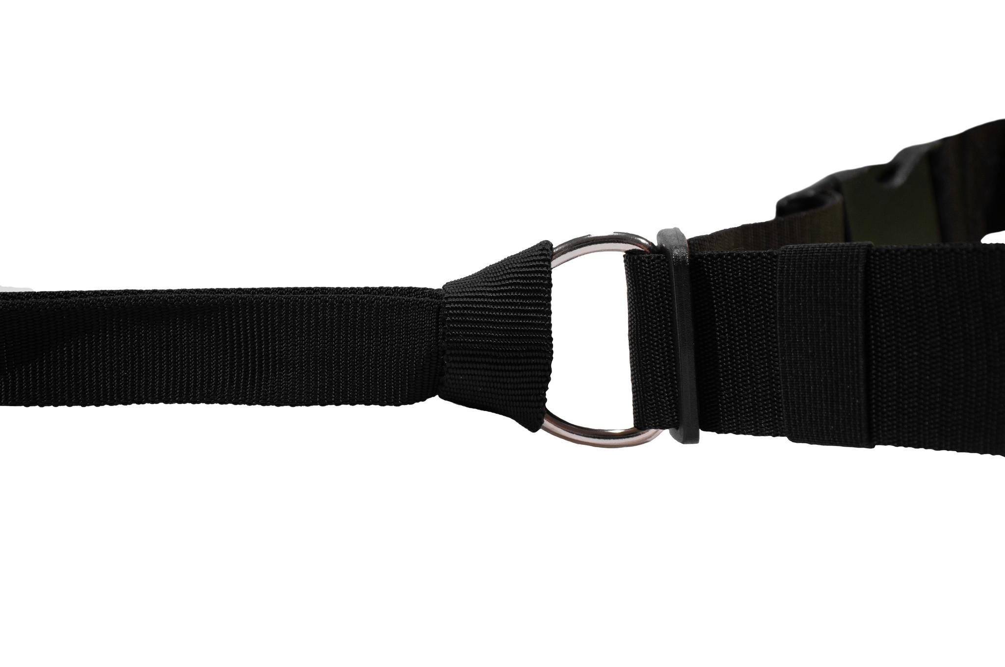 LasaLine Jöring Canicross Leine mit integrierten Ruckdämpfer in schwarz
