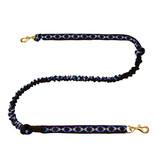 LasaLine Laisse de joring pour chien mains libres  - 2 mousquetons - noir