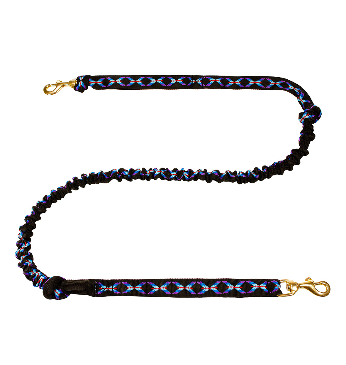 FBALasaLine LasaLine Hands free Dog Joring Leash -2 Carabiners -black