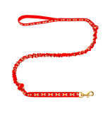 Northern Howl LasaLine Hands free Dog Leash with integrated Bungee - red
