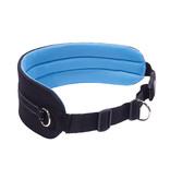 LasaLine Mains-libres chien marchant Courir jogging Ceinture -bleu clair/noir