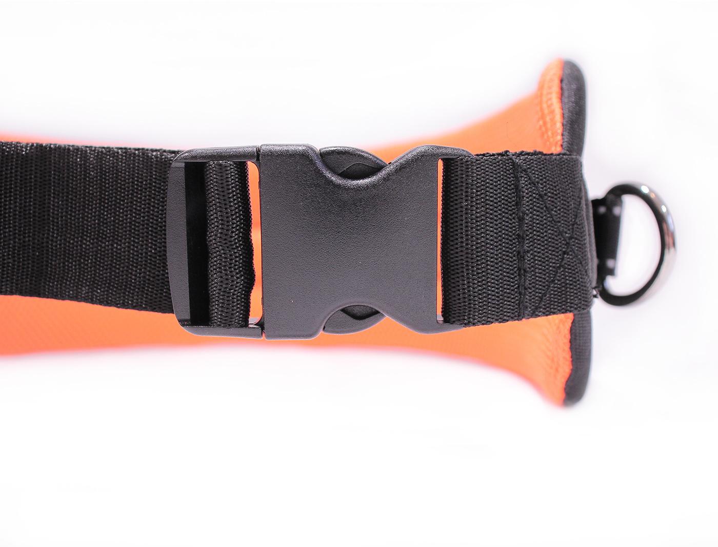 LasaLine LasaLine Canicross Jogging und Laufgürtel mit Reflektoren in Schwarz Neonorange
