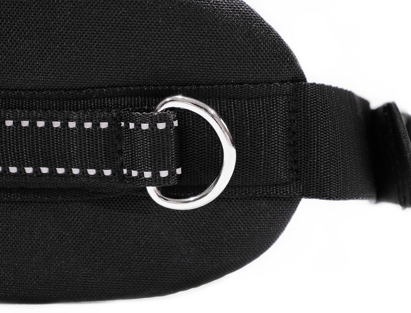 LasaLine Handsfree Dog Walking Running Jogging Waist Belt -  dark bluee Pedding/ black with reflectors