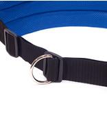 LasaLine Mains-libres chien marchant Courir jogging Ceinture - bleu foncé Pedding / noir avec réflecteurs