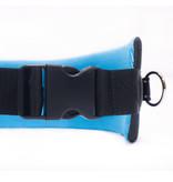 LasaLine Handsfree Dog Walking Running Jogging Waist Belt -  light blue Pedding/ black with reflectors