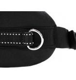 LasaLine Handsfree Dog Walking Running Jogging Waist Belt -  black Pedding/ black with reflectors