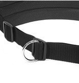 LasaLine Handsfree Dog Walking Running Jogging Waist Belt -  black Pedding/ black with reflectors - FBA