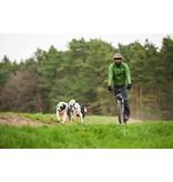 LasaLine LasaLine Hunde Zuggeschirr X Back Style inkl.  Zug-Jöringleine für Canicross Bike- Ski-Jöring Scooter Schlitten - Schwarz-Neongelb