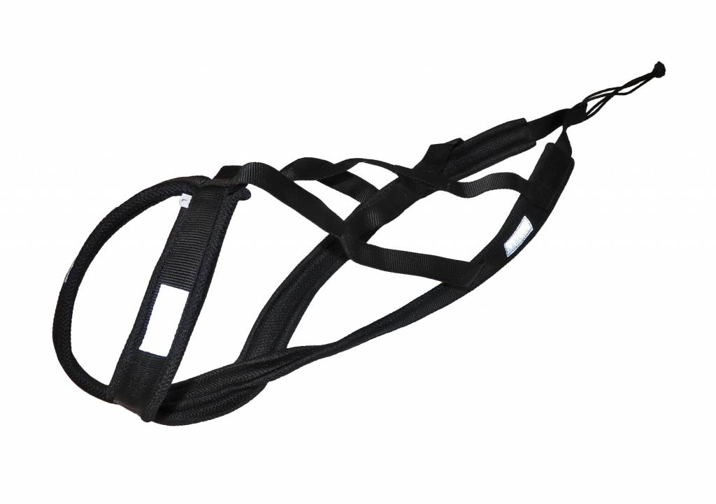 Northern Howl Weight Pulling Dog Harness, X-Back Style - Black - Copy