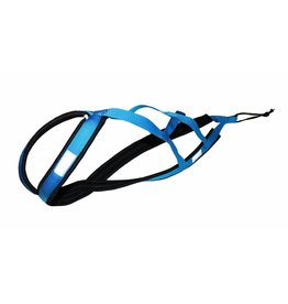 Weight Pulling Dog Harness, X - Back Style - BLUE - GEB