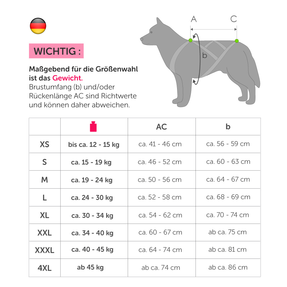 X-Back harnais pour chien pour le vélo, ski-joering, scooter, traîneau - -en néon orange / noir - Copy - Copy