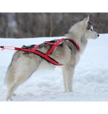 Weight Pulling Dog Harness, X - Back Style for Canicross, Bike, Sled, Scooter, Bike-, Ski-Joring, Jogging,... in red - GEB