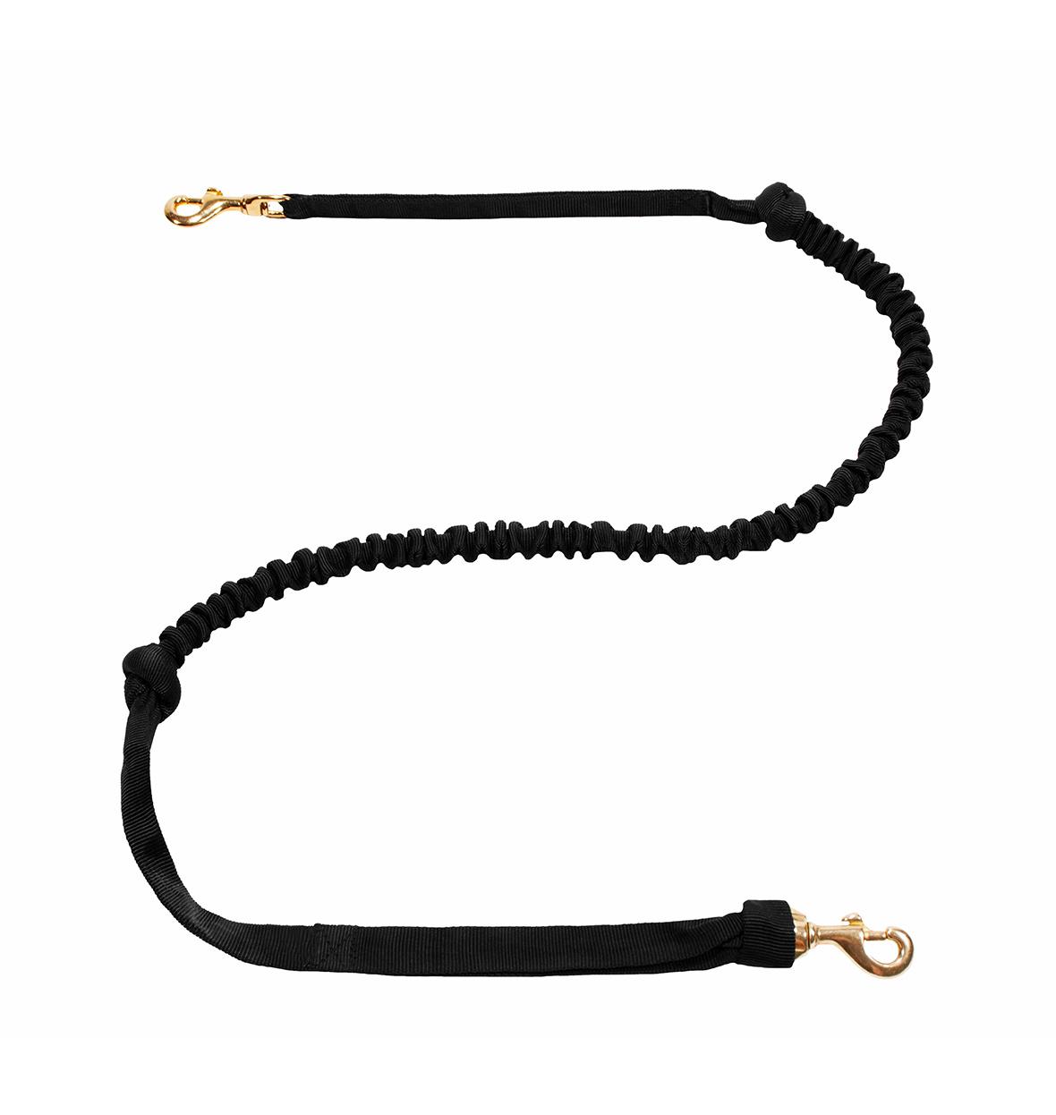 LasaLine LasaLine Laisse de joring pour chien mains libres  - 2 mousquetons - noir