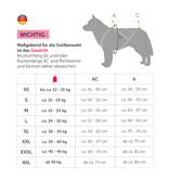 LASALINE-FBA Weight Pulling Dog Harness, X - Back Style - Blue Neonyellow + Leash