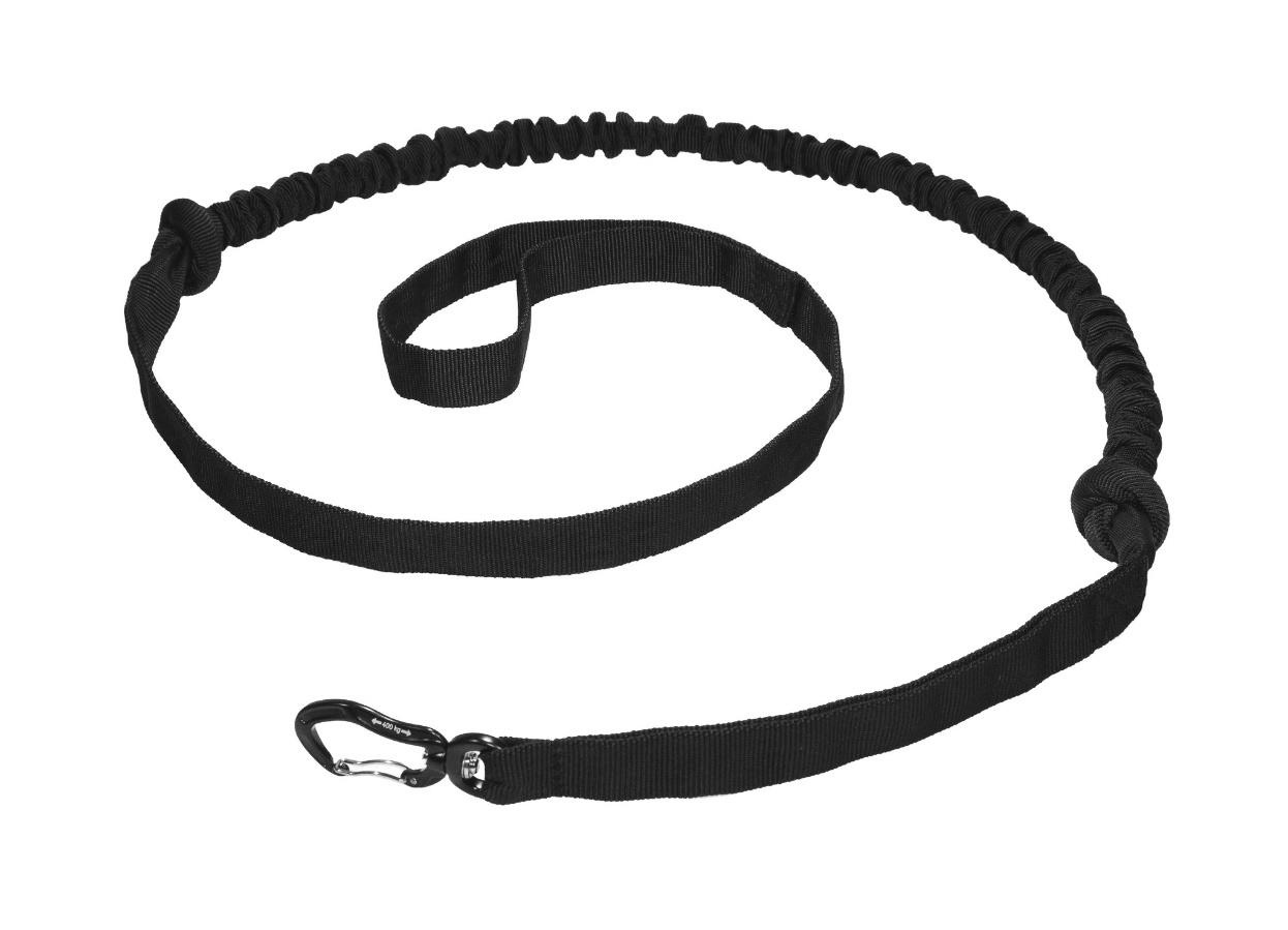 Northern Howl FBA Hands free Dog Leash with integrated Bungee - black - FBA