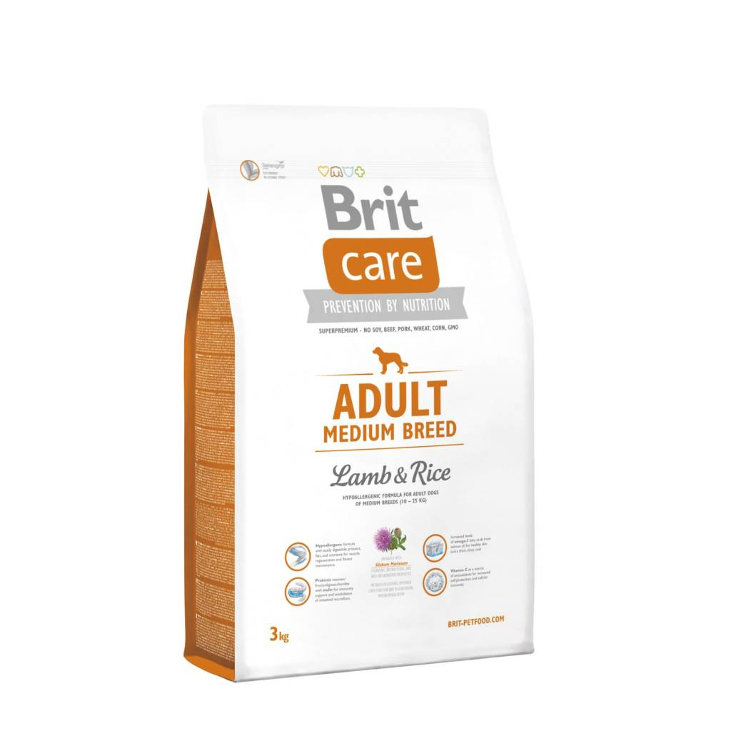 Brit Hundefutter Brit Care Adult Medium Breed Lamb & Rice