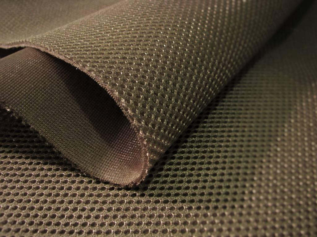 Lasagroom Airmesh Oliven Braun (Rohe Umbra) 4mm / 1 lfm x 1,60m Breite