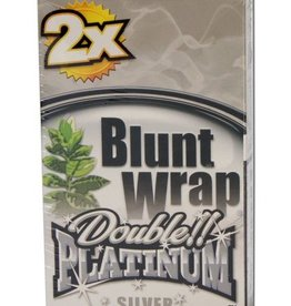 Platinum Double - Blunt Wrap - Silver
