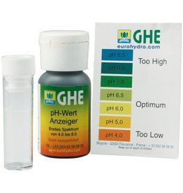 GHE pH Test Kit mit Farbskala