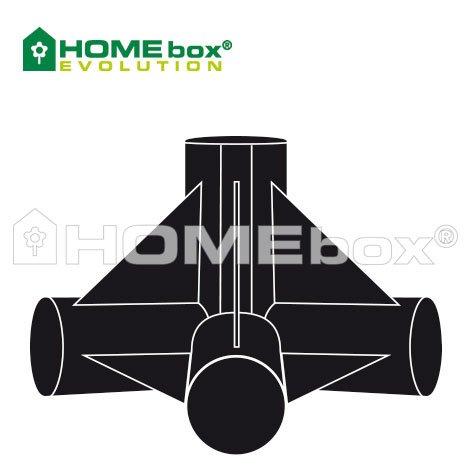 HOMEbox Evolution 4 Wege Eckverbinder