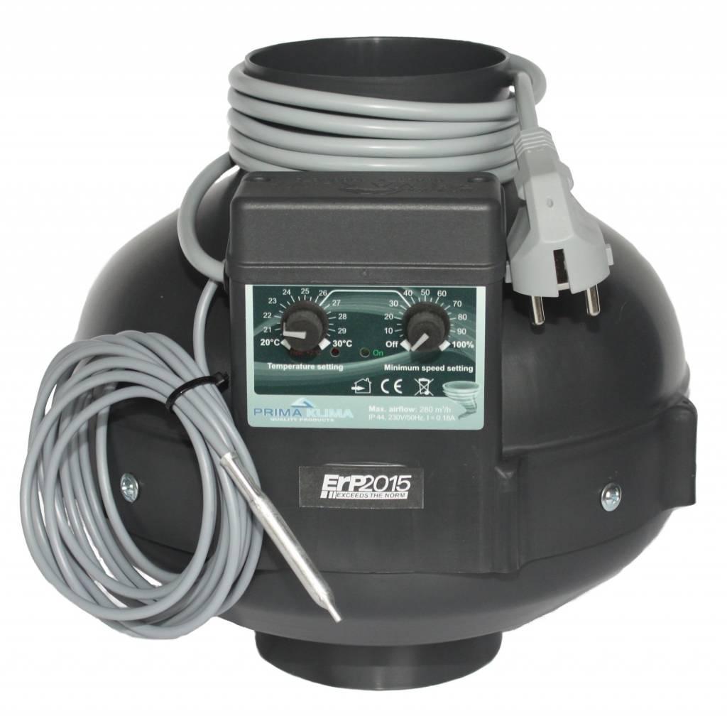PK Rohrventilator 280m³/100mm/Temp.gesteuert