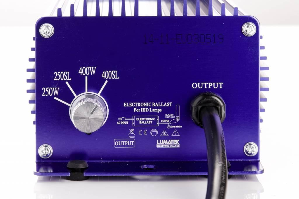Lumatek 400 Watt, regelbar, IEC Adapter