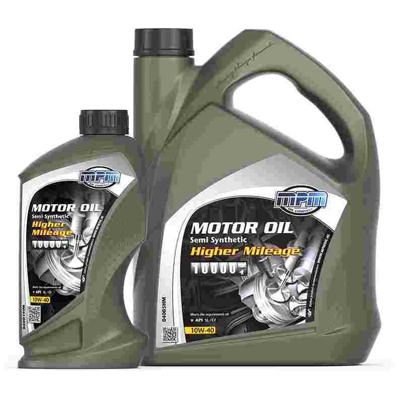 Opdateret MPM Oil Motorolie 10W-40 Semi Synthetisch Higher Mileage - 0800 TZ07