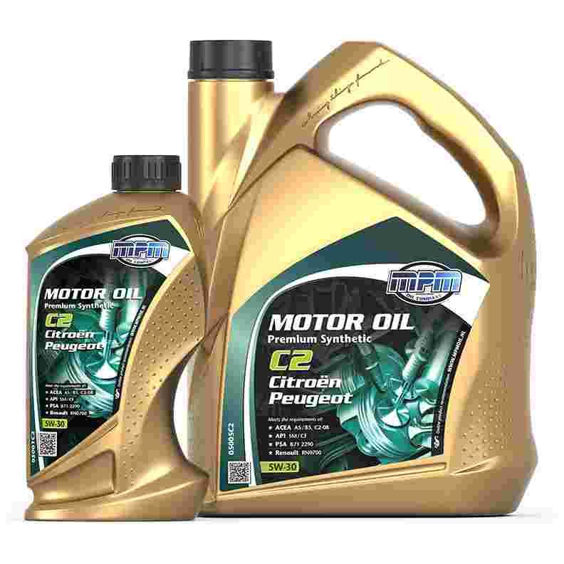 Frisk frugt MPM Oil Motorolie 5W-30 Premum Synthetisch C2 Citroen / Peugeot MZ96