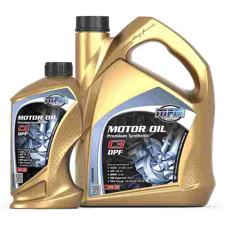 Dejlig MPM Oil Motorolie 5W-30 Premium Synthetisch C3 DPF - 0800-oliekopen.nl IZ-03
